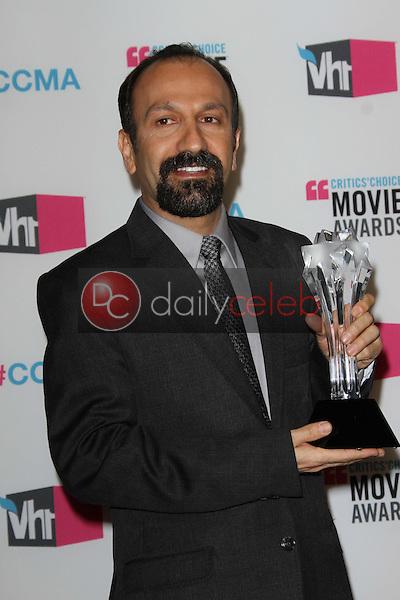 Asghar Farhadi<br /> at the 17th Annual Critics' Choice Movie Awards, Palladium, Hollywood, CA  01-12-12<br /> David Edwards/DailyCeleb.com 818-249-4998