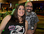 Andrea Mocabee and Kenny Sinatra from San Jose, Ca attend the Billy Idol Concert in the Grand Sierra Resort's Grand Theatre on Friday night, August 7, 2015.