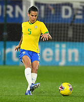 20200304 Valenciennes , France : Brazilian Thaisa (5)  pictured during the female football game between the national teams of The Netherlands and Brasil on the first matchday of the Tournoi de France 2020 , a prestigious friendly womensoccer tournament in Northern France , on wednesday 4 th March 2020 in the Stade du Hainaut of Valenciennes , France . PHOTO SPORTPIX.BE | DIRK VUYLSTEKE