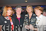 2484-2487.YOU'RE JOKING!: Supporting the Tralee Lyons club Comedy night in Kirby's Brogue, Tralee last Friday were l-r: Cora O'Mahony, Betty Groves, Deirdre McElligott and Maura Shanahan.