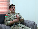 Iraq 2014         <br /> Sirwan Barzani, Peshmerga officer in charge of the 6th branch in Mahmur district  <br /> Irak 2014 <br /> Sirwan Barzani, officier de peshmergas, responsable de la 6eme branche region de Mahmur