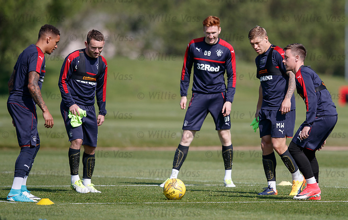 James Tavernier, Lee Hodson, David Bates, Martyn Waghorn and Barrie McKay
