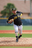 Pittsburgh Pirates Nestor Oronel (47) during an instructional league intrasquad black and gold game on September 18, 2015 at Pirate City in Bradenton, Florida.  (Mike Janes/Four Seam Images)