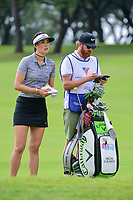 Michelle Wie (USA) looks over her approach shot on 9 during round 2 of  the Volunteers of America Texas Shootout Presented by JTBC, at the Las Colinas Country Club in Irving, Texas, USA. 4/28/2017.<br /> Picture: Golffile | Ken Murray<br /> <br /> <br /> All photo usage must carry mandatory copyright credit (&copy; Golffile | Ken Murray)