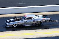 Sep 14, 2013; Charlotte, NC, USA; NHRA pro mod driver Adam Flamholc during qualifying for the Carolina Nationals at zMax Dragway. Mandatory Credit: Mark J. Rebilas-