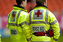 18/02/2006         Copyright Pic: James Stewart.File Name : sct_jspa26_dundee_utd_v_inverness.MEMBERS OF THE RED CROSS PROVIDE MEDICAL COVER AT TANNADICE....Payments to :.James Stewart Photo Agency 19 Carronlea Drive, Falkirk. FK2 8DN      Vat Reg No. 607 6932 25.Office     : +44 (0)1324 570906     .Mobile   : +44 (0)7721 416997.Fax         : +44 (0)1324 570906.E-mail  :  jim@jspa.co.uk.If you require further information then contact Jim Stewart on any of the numbers above.........
