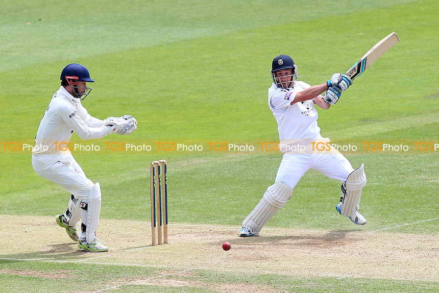 Will Smith in batting action for Hampshire as James Foster looks on - Hampshire CCC vs Essex CCC - LV County Championship Division Two Cricket at the Ageas Bowl, West End, Southampton - 17/06/14 - MANDATORY CREDIT: Gavin Ellis/TGSPHOTO - Self billing applies where appropriate - 0845 094 6026 - contact@tgsphoto.co.uk - NO UNPAID USE