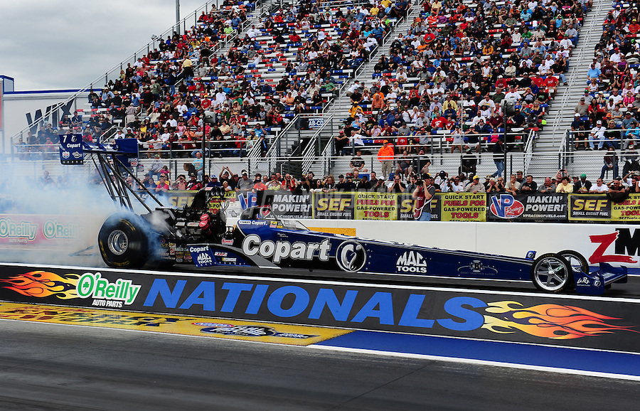 Sept. 18, 2011; Concord, NC, USA: NHRA top fuel dragster driver Brandon Bernstein during the O'Reilly Auto Parts Nationals at zMax Dragway. Mandatory Credit: Mark J. Rebilas-