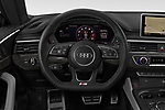 Car pictures of steering wheel view of a 2018 Audi S5 Sportback 3.0T Premium Plus quattro Tiptronic 5 Door Hatchback
