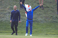 Tommy Fleetwood (Team Europe) during the sunday singles at the Ryder Cup, Le Golf National, Paris, France. 30/09/2018.<br /> Picture Phil Inglis / Golffile.ie<br /> <br /> All photo usage must carry mandatory copyright credit (&copy; Golffile | Phil Inglis)