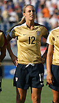 14 July 2007: United States' Leslie Osborne. The United States Women's National Team defeated their counterparts from Norway 1-0 at Rentschler Stadium in East Hartford, Connecticut in a women's international friendly soccer game.