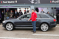 Real Madrid player Iker Casillas participates and receives new Audi during the presentation of Real Madrid's new cars made by Audi at the Jarama racetrack on November 8, 2012 in Madrid, Spain.(ALTERPHOTOS/Harry S. Stamper) .<br /> &copy;NortePhoto