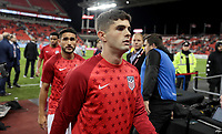 TORONTO, ON - OCTOBER 15: Christian Pulisic #10 of the United States during a game between Canada and USMNT at BMO Field on October 15, 2019 in Toronto, Canada.