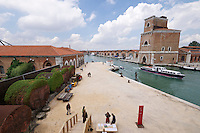 55th Art Biennale in Venice - The Encyclopedic Palace (Il Palazzo Enciclopedico).<br /> Arsenale.<br /> View from Georgia Pavilion.<br /> Bouillon Group,Thea Djordjadze, Nikoloz Lutidze, Gela Patashuri with Ei Arakawa and Sergei Tcherepnin, Gio Sumbadze.<br /> &quot;Kamikaze Loggia&quot;, 2013.