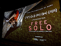 """Los Angeles - JANUARY 8: IMAX screening of National Geographic's """"Free Solo"""" at the AMC Century City 15 on January 8, 2019 in Los Angeles, California. (Photo by Frank Micelotta/National Geographic/PictureGroup)"""