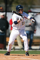 February 21, 2009:  Third baseman Dan DiBartolomeo (14) of West Virginia University during the Big East-Big Ten Challenge at Jack Russell Stadium in Clearwater, FL.  Photo by:  Mike Janes/Four Seam Images