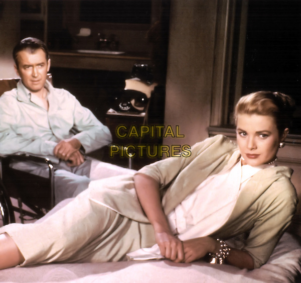 James Stewart & Grace Kelly .in Rear Window.*Filmstill - Editorial Use Only*.CAP/PLF.Supplied by Capital Pictures.