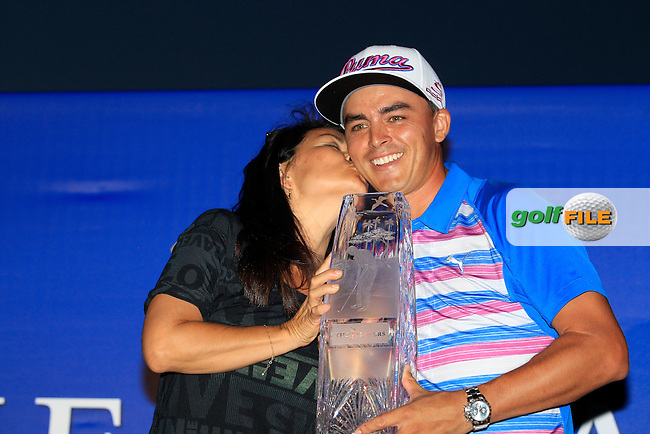 Rickie FOWLER (USA) winner of The Players, with his mam at TPC Sawgrass, Ponte Vedra Beach, Florida, United States. 10/05/2015<br /> Picture Fran Caffrey, www.golffile.ie