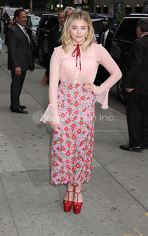 NEW YORK, NY - MAY 10:  Chloe Grace Moretz arrives at 'The Late Show with Stephen Colbert' in New York, New York on May 10, 2016.  Photo Credit: Rainmaker Photo/MediaPunch
