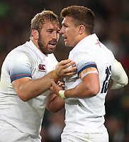 Chris Robshaw of England with Henry Slade of England during the 2018 Castle Lager Incoming Series 1st Test match between South Africa and England at Emirates Airline Park,<br /> Johannesburg.South Africa. 09,06,2018 Photo by (Steve Haag Sports)