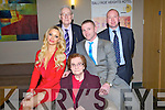 SPECIAL: Having a great night at the St Bendan's Huirling Club, Ardfert on Saturday evening in Ballyroe Heights Hotel, Tralee on Saturday night, l-r: Siobhan Sentry, Betty,Shane and Michael Griffin and Maurice Harmon.