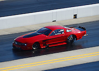 Apr. 13, 2012; Concord, NC, USA: NHRA pro mod driver Steve Matusek during qualifying for the Four Wide Nationals at zMax Dragway. Mandatory Credit: Mark J. Rebilas-
