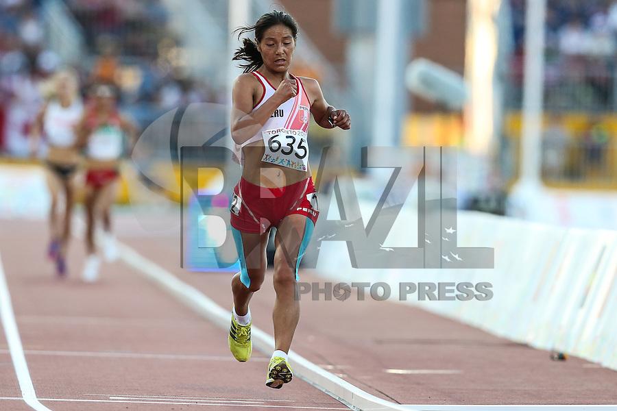 TORONTO, CANADÁ, 23.07.2015 - PAN-ATLETISMO - Peruana Ines Melchor durante prova de 10.000 metros no atletismo nos Jogos Panamericanos na cidade de Toronto no Canadá, nesta quinta-feira, 23 (Foto: Vanessa Carvalho/Brazil Photo Press)
