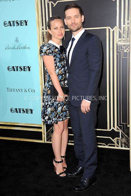 WWW.ACEPIXS.COM . . . . . .May 1, 2013...New York City...Jennifer Meyer Maguire and Tobey Maguire attend the 'The Great Gatsby' world premiere at Avery Fisher Hall at Lincoln Center for the Performing Arts on May 1, 2013 in New York City ....Please byline: KRISTIN CALLAHAN - ACEPIXS.COM.. . . . . . ..Ace Pictures, Inc: ..tel: (212) 243 8787 or (646) 769 0430..e-mail: info@acepixs.com..web: http://www.acepixs.com .