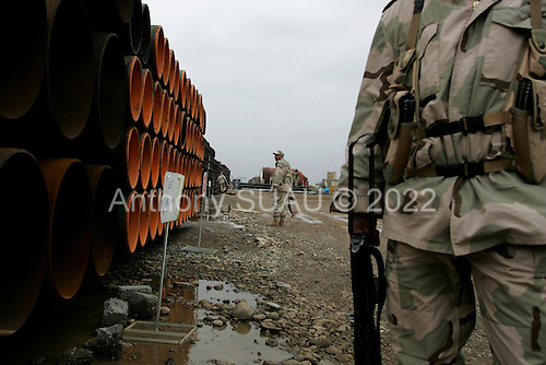 Dohuk, Kurdistan.January 25, 2006..DNO storage camp near Dohuk.