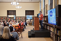 Charlie Cardillo, Vice President for Institutional Advancement<br /> Occidental College launched the public phase of the Oxy Campaign For Good, a comprehensive effort to raise $225 million to strengthen its financial aid endowment and academic and co-curricular programs, at a May 18, 2019 Campaign Leadership Summit on the Occidental campus. More than 100 Oxy community members participated, getting a first-hand look at current programs and celebrated what the Campaign means for the future of Oxy.<br /> (Photo by Marc Campos, Occidental College Photographer)