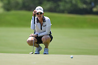 Karrie Webb (AUS) lines up her putt on 4 during round 1 of the 2019 US Women's Open, Charleston Country Club, Charleston, South Carolina,  USA. 5/30/2019.<br /> Picture: Golffile | Ken Murray<br /> <br /> All photo usage must carry mandatory copyright credit (© Golffile | Ken Murray)