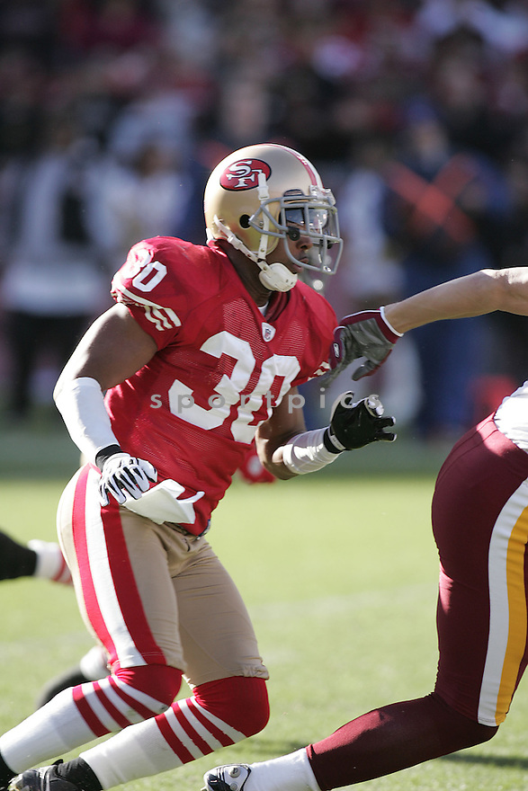DONALD STRICKLAND, of the San Francisco 49ers  , in action  during the 49ers game against the Washington Redskin on December 28, 2008 in San Francisco, CA...49ers win 27-24