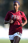 02 November 2012: Florida State's Tiffany McCarty. The Florida State University Seminoles played the University of Virginia Cavaliers at WakeMed Stadium in Cary, North Carolina in a 2012 NCAA Division I Women's Soccer and Atlantic Coast Conference Tournament semifinal game. Virginia won the game 4-2.