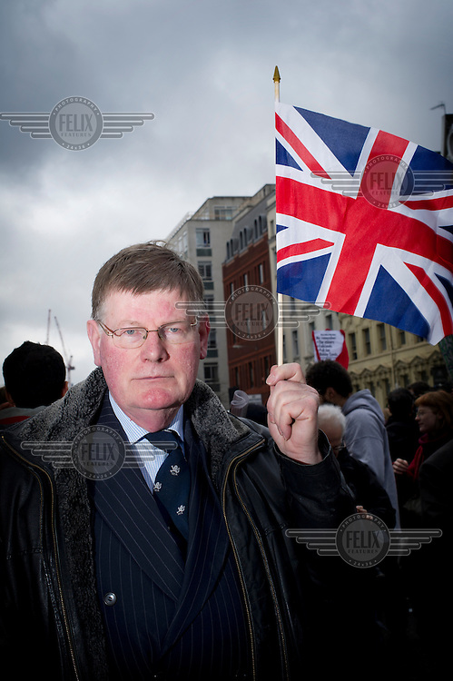 People who lined the streets of London for the funeral cortege of Margaret Thatcher, former British Prime Minister, who died on 8 April 2013 after suffering a stroke. ..Why did you come here today? ..Walter Sweeney (ex-MP): 'Margret Thatcher was an inspiration who altered my life.' /Felix Features