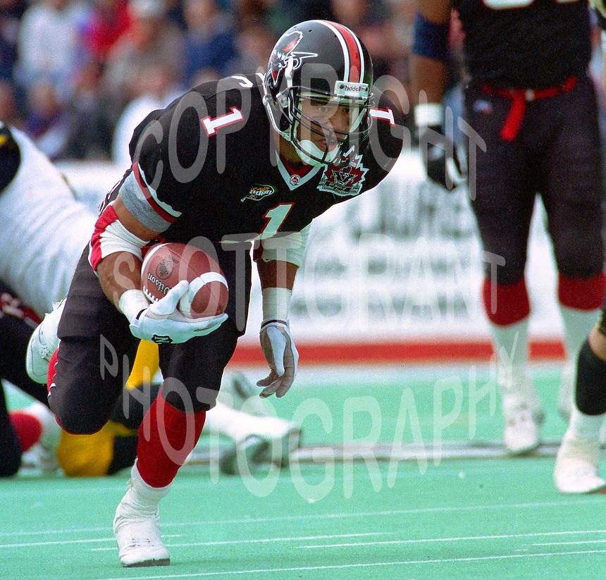 Eddie Britton Ottawa Rough Riders 1996. Photo F. Scott Grant