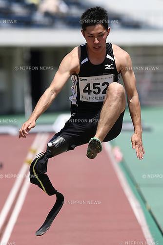 Junta Kosuda,<br /> MAY 1, 2016 - Athletics :<br /> Japan Para Athletics Championships<br /> Men's Long Jump T42 Final<br /> at Coca Cola West Sports Park, Tottori, Japan.<br /> (Photo by Shingo Ito/AFLO SPORT)