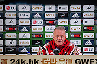 Swansea Caretaker Manager, Alan Curtis  during the Barclays Premier League match between Swansea City and West Ham United played at the Liberty Stadium, Swansea  on December 20th 2015