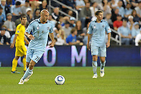 Sporting KC defender Aurelien Collin in action... Sporting Kansas City defeated Columbus Crew 2-1 at LIVESTRONG Sporting Park, Kansas City, Kansas.