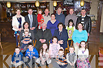 Mary and Sean O'Keeffe seated centre celebrate their 40th wedding anniversary with their family in the International Hotel Killarney on Saturday.