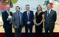 Conor Hennigan, Hospitality Consultant, Tom Randles, Randles Hotel, Pat McCann, Dalata, Nicola McGrane, Conference Partners and Stephen Hanley, The Shelbourne Hotel pictured  at the National Tourism Forum in The Muckross Park Hotel, Killarney at the weekend. <br /> Over 200 delegates from all over Ireland attend the inaugural event which was addressed by national and international speakers.<br /> Photo: Don MacMonagle<br /> <br /> Repro free photo