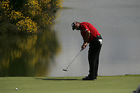 Angel Cabrera takes his putt on the par3 16th green during the 3rd round of the 2008 Open de France Alstom at Golf National, Paris, France June 28th 2008 (Photo by Eoin Clarke/GOLFFILE)