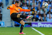 Mathew Ryan Goalkeeper of Brighton & Hove Albion (1) In action  during the EPL - Premier League match between Brighton and Hove Albion and Manchester City at the American Express Community Stadium, Brighton and Hove, England on 12 August 2017. Photo by Edward Thomas / PRiME Media Images.