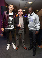 Pictured: Federico Fernandez (L) and Modou Barrow (R)<br />