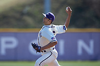 High Point Panthers starting pitcher Drew Daczkowski (16) in action against the NJIT Highlanders at Williard Stadium on February 19, 2017 in High Point, North Carolina. The Panthers defeated the Highlanders 6-5. (Brian Westerholt/Four Seam Images)