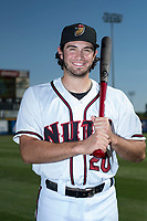 Modesto Nuts third baseman Joe Rizzo (20) poses for a photo before a California League game against the Lake Elsinore Storm at John Thurman Field on May 11, 2018 in Modesto, California. (Zachary Lucy/Four Seam Images)