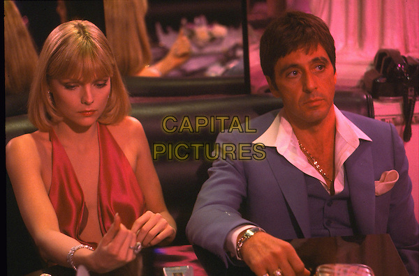 MICHELLE PFEIFFER & AL PACINO.in Scarface.Filmstill - Editorial Use Only.Ref: FB.sales@capitalpictures.com.www.capitalpictures.com.Supplied by Capital Pictures.