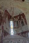 Medieval frescoes church of Saint Mary, Kempley, Gloucestershire, England, UK