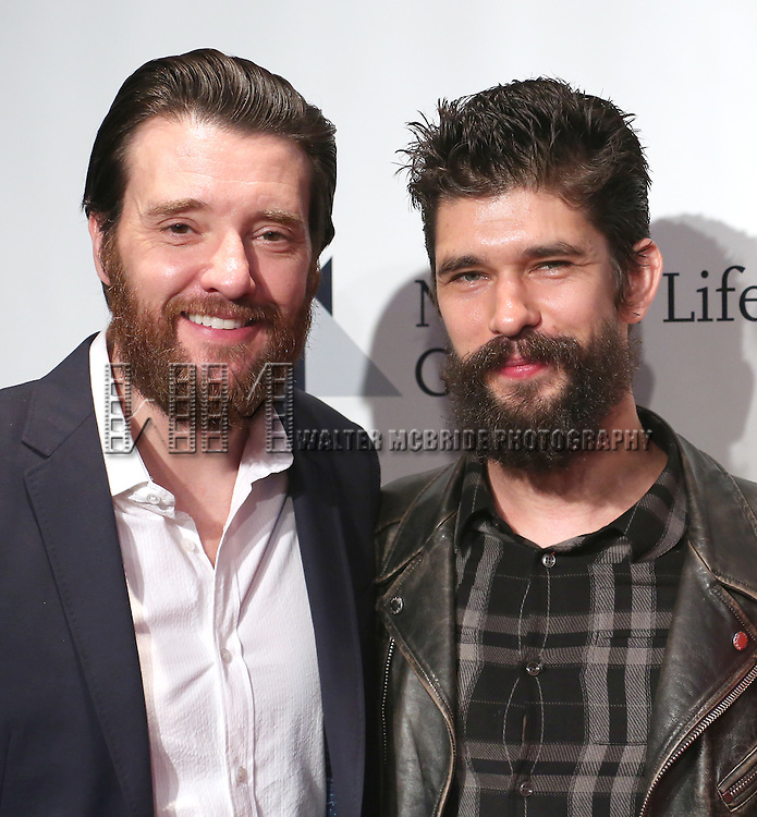 Jason Butler Harner and Ben Whishaw  attends The 82nd Annual Drama League Awards  at the Marriott Marquis Times Square on May 20, 2016 in New York City.