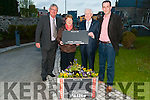 Presentation : Eoin Moriarity, Listowel CCE & Mary O'Hanlon & Cllr. Jimmy Moloney, Listowel's Tidy Town's committee making a presentation to Labhras O Murchu, CCE at the Seanchai Centre, Listowel on Saturday night last on behalf of their organizations