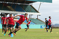 St. Vincent, - September 1, 2016: The U.S. Men's National Team train ahead of its World Cup Qualifying (WCQ) match versus St. Vincent and the Grenadines at Arnos Vale Stadium.